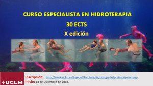 X Edición del Curso de Especialista en Hidroterapia de la Universidad de Castilla La Mancha